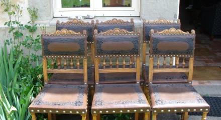 6 Henri II stoelen